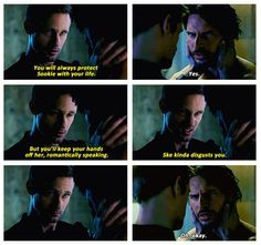 Eric glamours Alcide / True Blood. Funny scene! Eric doesn't want Alcide to move in on his Sookie...