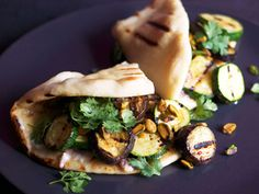 Grilled Vegetables and Anchovy Butter Sandwich
