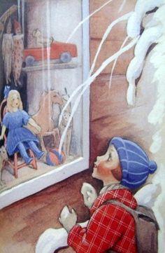 """Shop Window"" by Rudolf Koivu Finnish) Christmas Scenes, Christmas Star, Vintage Christmas, Christmas Cards, Snowy Woods, Art Nouveau, Squirrel Girl, Bo Bartlett, Inspiration Art"