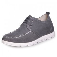 Men Casual Shoes - Grey Men's fashion elevator casual shoes make you taller 2 Inches with the SKU: MENJGL_C159 at Tooutshoes online store
