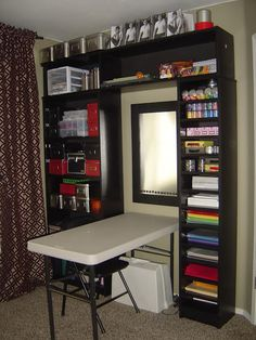 #papercraft #craftroom Friday Pinterest Round-up: Office/Craft Room Ideas - Debbie Does Creations