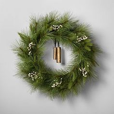 Hearth & Hand Magnolia Artificial Pine Wreath w Brass Bell Fall Christmas Rustic Christmas, Christmas Home, Xmas, Christmas Ideas, Christmas Inspiration, Simple Christmas, Merry Christmas, Cottage Christmas, Minimalist Christmas