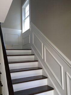 Een volledige pastoriestijl trap over een betonnen trap geplaatst houten trap over betontrap - Redo houten trap ...