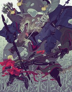 Commissioned work 14' by Goni Montes, via Behance