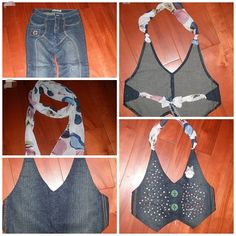 24 Wonderful Ideas and Tutorials to Refashion Your Old Jeans #diy #crafts