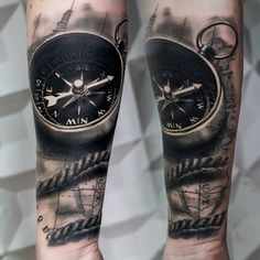 Compass Tattoo Real Look