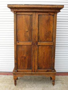 Attirant Size Primitive Pine Antique Rustic Armoire Cabinet Antique Furniture