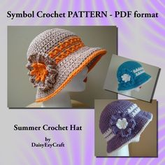 Free Crochet Patterns To Print | CROCHET FREE PATTERN HAT SUMMER - Crochet — Learn How to Crochet
