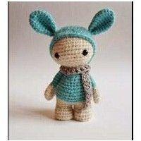 兔帽子娃娃玩偶的钩法教程