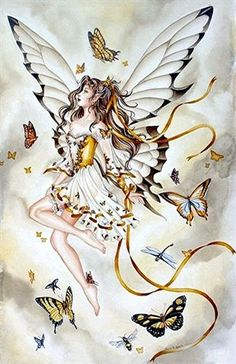 Nene Thomas Fairy Print Rhapsody in Gold Butterfly NEW Faery Butterfly Rare Fairy Myth Mythical Mystical Legend Elf Fairy Fae Wings Fantasy Elves Faries Sprite Nymph Pixie Faeries Enchantment Fantasy Magic, Fantasy Art, Magical Creatures, Fantasy Creatures, Fairy Dust, Fairy Tales, Fairy Land, Elfen Tattoo, Bild Gold