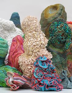 Angelika Arendt, 2012 textured fabric surfaces-colorful nature inspired fiber art