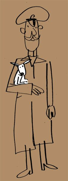 soldier with small dog by Fred Blunt, via Flickr