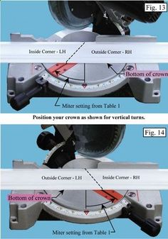 Cheat sheet for cutting trim. Must-have!!
