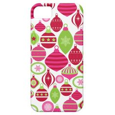 Retro Holiday Ornaments Christmas Pattern iPhone 5/5S Covers