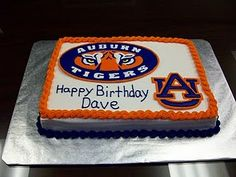 Auburn University Birthday Cake