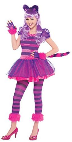 Teen Girls Purple Cheshire Cat Costume JR Medium 79 -- Be sure to check out this awesome product.