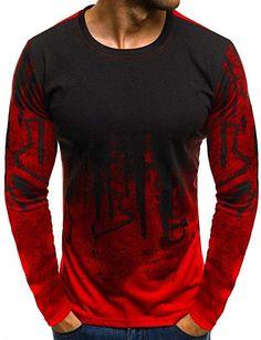Herren Longsleeve Langarmshirt Shirt Basic Bluse Tops Herren Basic  Longsleeve O-Neck T-Shirt 42d8457058