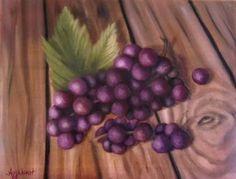 "Saatchi Art Artist ΑγγελικΗ  Aggeliki; Painting, ""Grapes"" #art, NOT AVAILABLE"