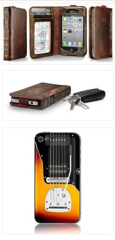 Jahzz ☯ |  ..iPhone 4/4S trendy Covers:  recent leather Book-case & Fender Guitar-case (new)