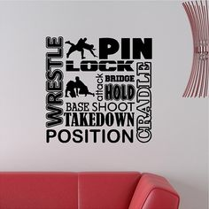 Wrestling Wall Decal Wrestle Wall Sticker by eyecandysigns on Etsy