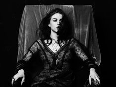 Frances Bean Cobain in our Skull Pendant shot by Hedi Slimane
