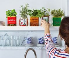 Looking for a creative, but doable project this winter? We love these simple-to-maser DIY home decor projects from Oh So Lovely. I mean, how cute is that tea tin herb garden?