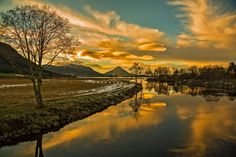 Golden evening - A beautiful evening in november. This shot is taken just outside of the town Molde in Norway.