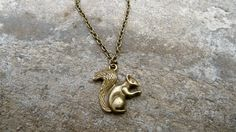 Squirrel Necklace Woodland Necklace by TheVintageAcorn on Etsy