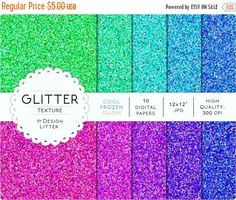 Until New Year - Glitter digital paper texture: Frozen cool colors green mint blue violet sparkling background scrapbook paper · Violet Background, Save The Date Invitations, Mint Blue, Scrapbook Paper, Scrapbooking, Warm Colors, Paper Texture, Purple Style, Digital Papers