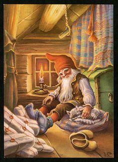 Julkort av Lars Carlsson Swedish Christmas, Modern Christmas, Scandinavian Christmas, Vintage Christmas, Xmas Elf, Christmas Gnome, Winter Christmas, Christmas Tables, Woodland Creatures