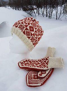 Ravelry: Aslaug hat and mittens pattern by Guri Østereng Halvorsen