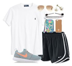 """""""Running Errands"""" by lauren-hailey ❤ liked on Polyvore featuring мода, NIKE, Ralph Lauren, Ray-Ban и Tory Burch"""