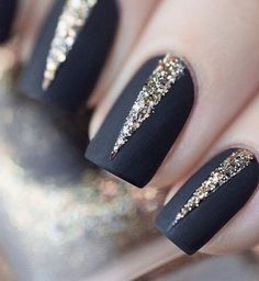 Matte black with some shimmer.