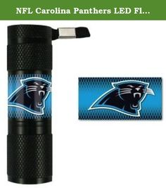 NFL Carolina Panthers LED Flashlight, Small. Need a light? Try the Team ProMark LED flashlight, featuring your NFL team's logo on the handle. It's made with 9 super-bright LED bulbs that will illuminate the surrounding area for up to 100,000 hours. It's water resistant and comes with an attached lanyard for easy carrying. The flashlight requires 3 AAA batteries (not included). Officially licensed by the NFL, this durable LED Flashlight features full color graphics. Team ProMark offers...