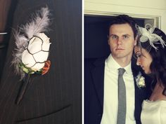 chicken wire boutonniere