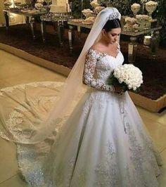 Ideas for wedding veils lace fun Wedding Dress Winter, 2 Piece Wedding Dress, Wedding Dress Separates, Luxury Wedding Dress, Wedding Veils, Dream Wedding Dresses, Bridal Dresses, Long Sleeve Wedding, Wedding Dress Sleeves