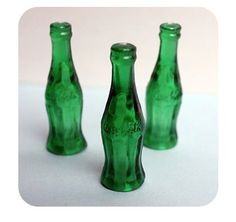 Green Coca Cola Bottle Cupcake Toppers/Picks