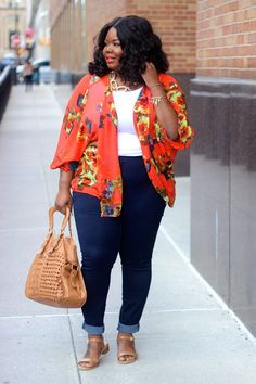 50 Stylish Plus Size Fashion Outfits Ideas For Women That You Can Try Plus Size Outfits For Summer, Cute Spring Outfits, Outfits For Teens, School Outfits, Outfit Summer, Curvy Girl Fashion, Plus Size Fashion, Fashion Black, Curvy Outfits