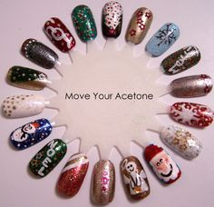 Christmas Nail Art Ideas check out www.MyNailPolishObsession.com for more nail art ideas.