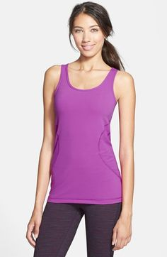 Zella 'Double Scoop - Ocean Solid' Tank available at #Nordstrom