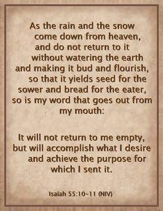 Bible Scripture / Isaiah 55:10-11 (NIV)