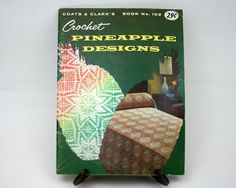 Vintage 1950s crochet patterns Pineapple by SmilingCatVintage, $8.00