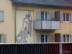 Mural refering to the 'Song of the Nibelungs' in Hohenems, Austria Large Wall Murals, Art Boards, Austria, Street Art, Europe, Places, Home Decor, Homemade Home Decor, Decoration Home