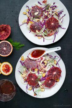 Blood Orange and Fennel Salad with Honeyed Almonds - Taste Love & Nourish