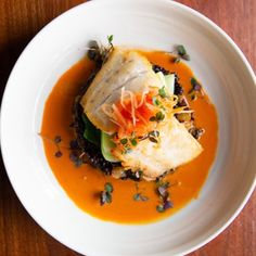 Then Chef Banks White's dish featuring Verlasso salmon, forbidden rice, bok choy, papaya, and Malaysian red curry sauce is a must-try! Red Curry Sauce, Asian Salmon, Green Papaya, White Dishes, Coriander Seeds, Salmon Fillets, Curry Paste, Fish Sauce, Garam Masala