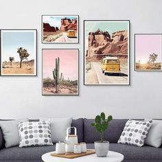 Joshua Tree Cactus Poster Print California Desert Canvas Painting Wall Art Pictures Modern Boho Minimalist Art Home Decor Plage Art Mural, Minimal Art, Wall Art Decor, Room Decor, Estilo Boho, Art Moderne, Minimalist Decor, Minimalist Painting, Wall Art Pictures