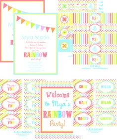 Love the wording on this rainbow party invitation.
