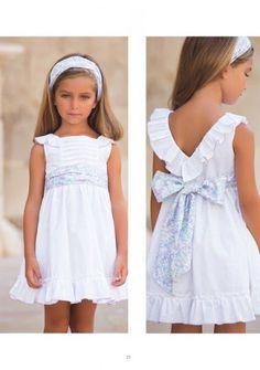 Classic P/V 2016 - Artesania Amaya Little Girl Fashion, Little Girl Dresses, Kids Fashion, Girls Dresses, Flower Girl Dresses, Maxi Dresses, Moda Kids, Baby Girl Halloween, Dress Tutorials