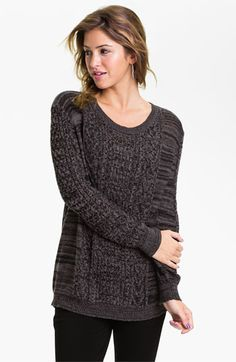 Rubbish® Knit Oversized Sweater (Juniors) available at #Nordstrom ...