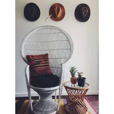 Boho retro peacock chair hire Perth bohemian picnic baby shower
